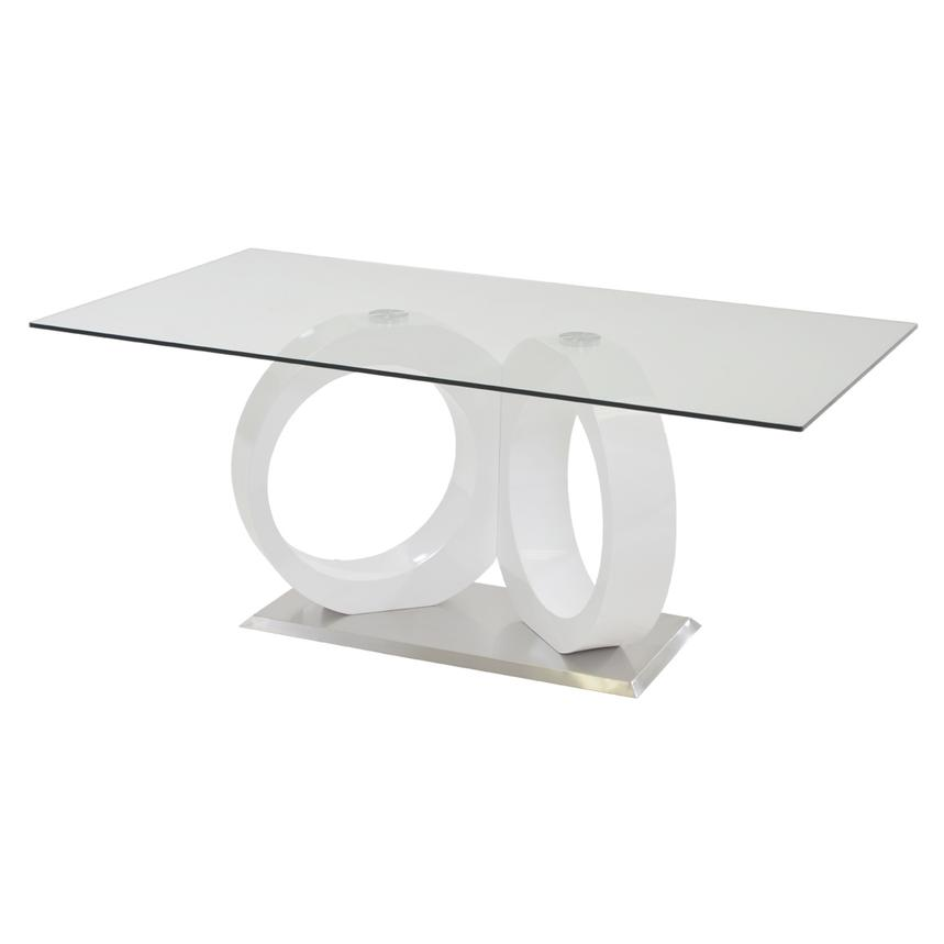 Stop 36 White Rectangular Dining Table  main image, 1 of 5 images.