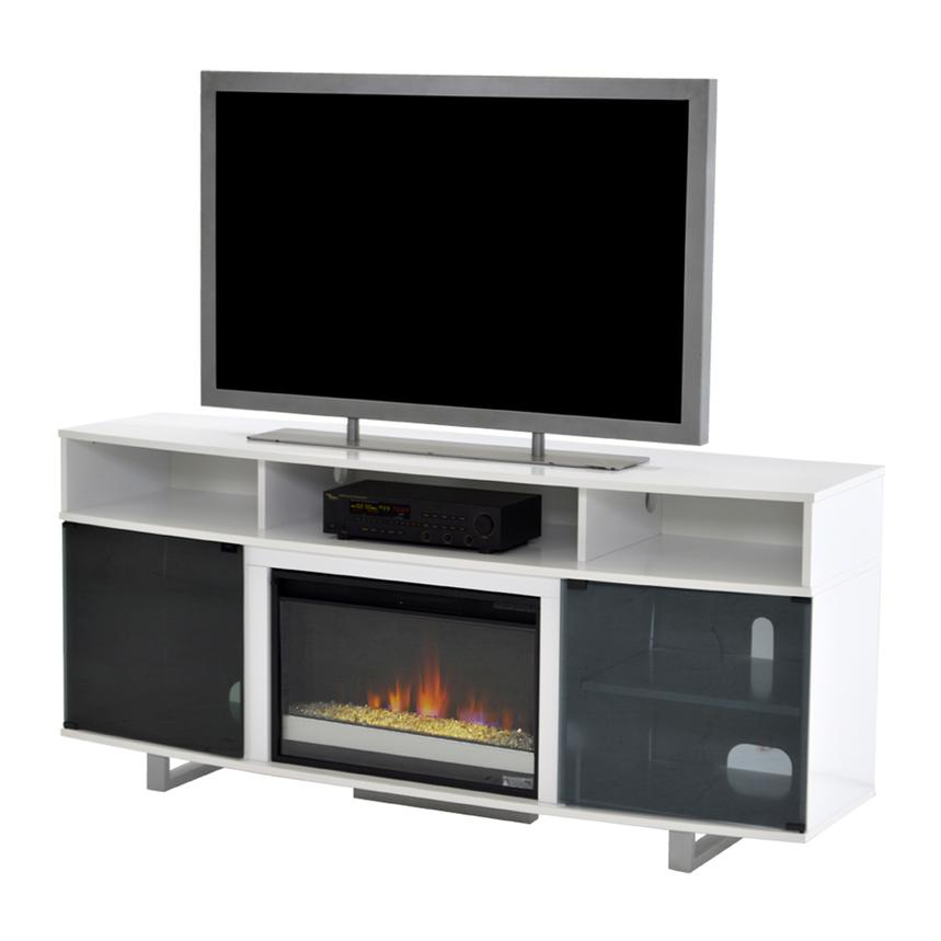 Enterprise White Faux Fireplace w/Remote Control  main image, 1 of 6 images.