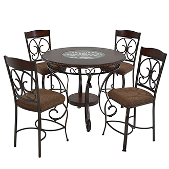 Glambrey 5-Piece High Dining Set