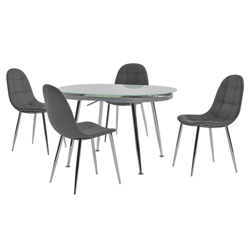 Clotus Gray 5-Piece Casual Dining Set  main image, 1 of 9 images.