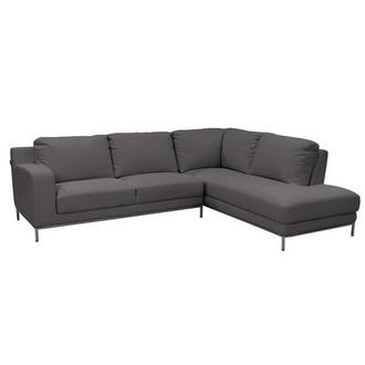 Cantrall Dark Gray Sofa w/Right Chaise