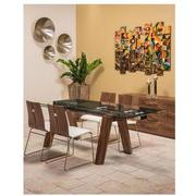 Valencia Brown/White 5-Piece Formal Dining Set  alternate image, 2 of 14 images.