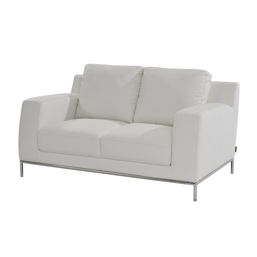 Cantrall White Loveseat  main image, 1 of 5 images.