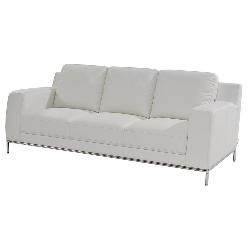 Cantrall White Sofa  main image, 1 of 6 images.