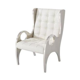 Boss White Accent Chair