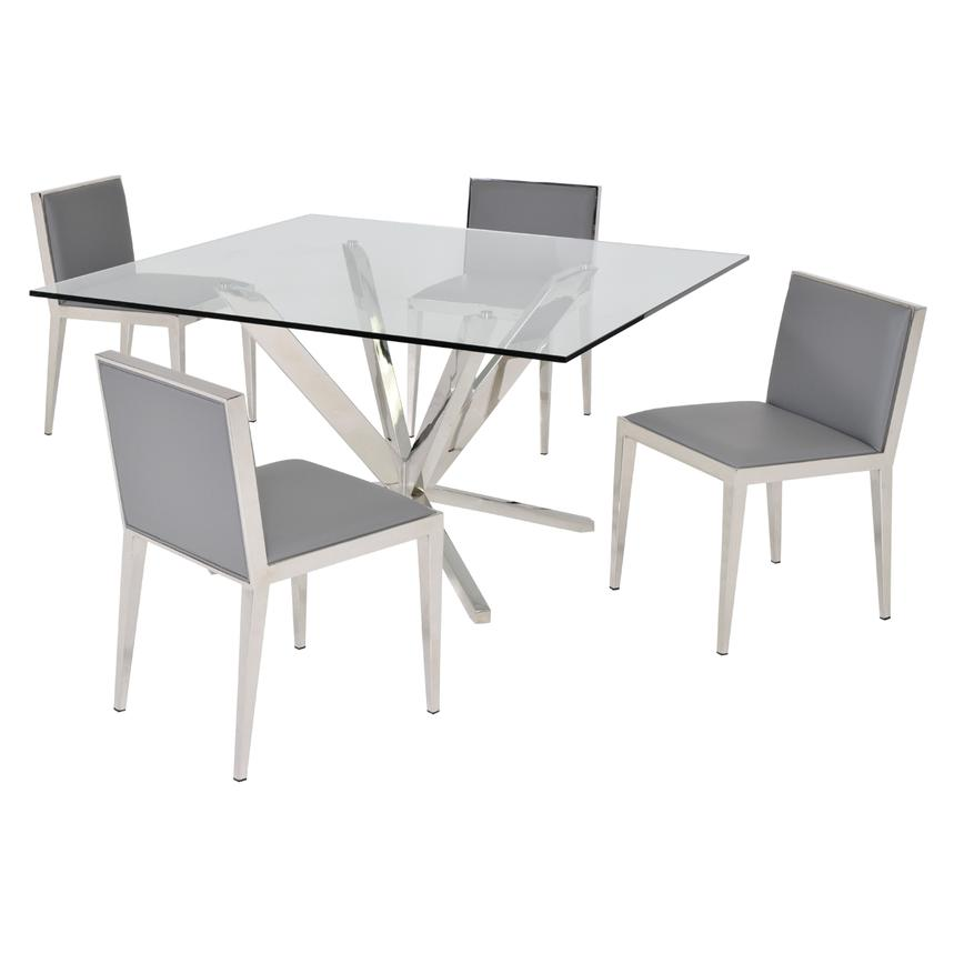 Ghettys Gray 5-Piece Formal Dining Set  main image, 1 of 6 images.