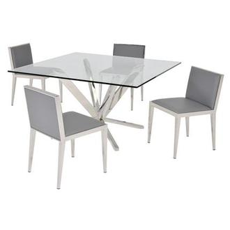 Ghettys Gray 5-Piece Formal Dining Set