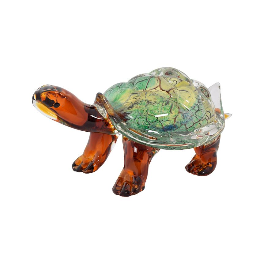 Turtle Glass Sculpture  main image, 1 of 3 images.
