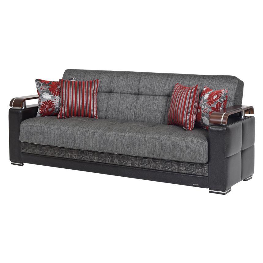 Ekol Gray Futon Sofa W Storage El