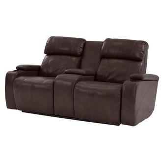 Magnetron Brown Power Motion Sofa w/Console