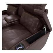 Magnetron Brown Power Motion Sofa w/Console  alternate image, 4 of 7 images.