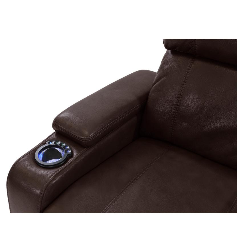 Magnetron Brown Power Motion Sofa w/Console  alternate image, 5 of 7 images.