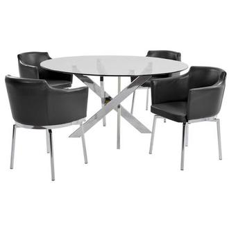 Dusty Black 5-Piece Dining Set