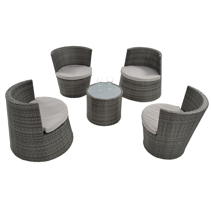 Tower Gray 5-Piece Patio Set (Sold By Set Only)  main image, 1 of 8 images.
