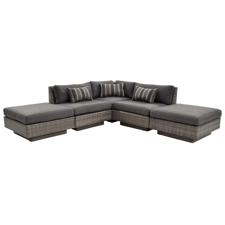 Key Largo Sofa W Ottomans El Dorado Furniture