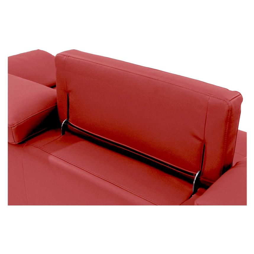Costa Red Sofa w/Left Chaise  alternate image, 5 of 6 images.