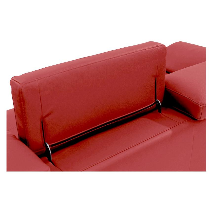 Costa Red Sofa w/Right Chaise  alternate image, 5 of 6 images.