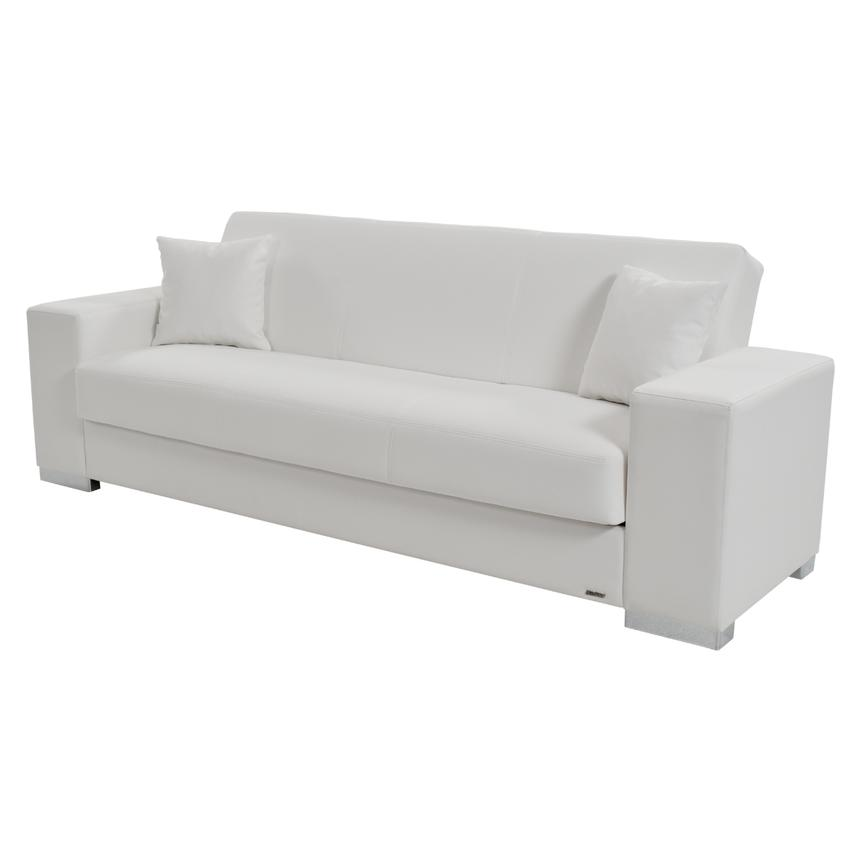 Kobe White Futon Sofa  main image, 1 of 8 images.