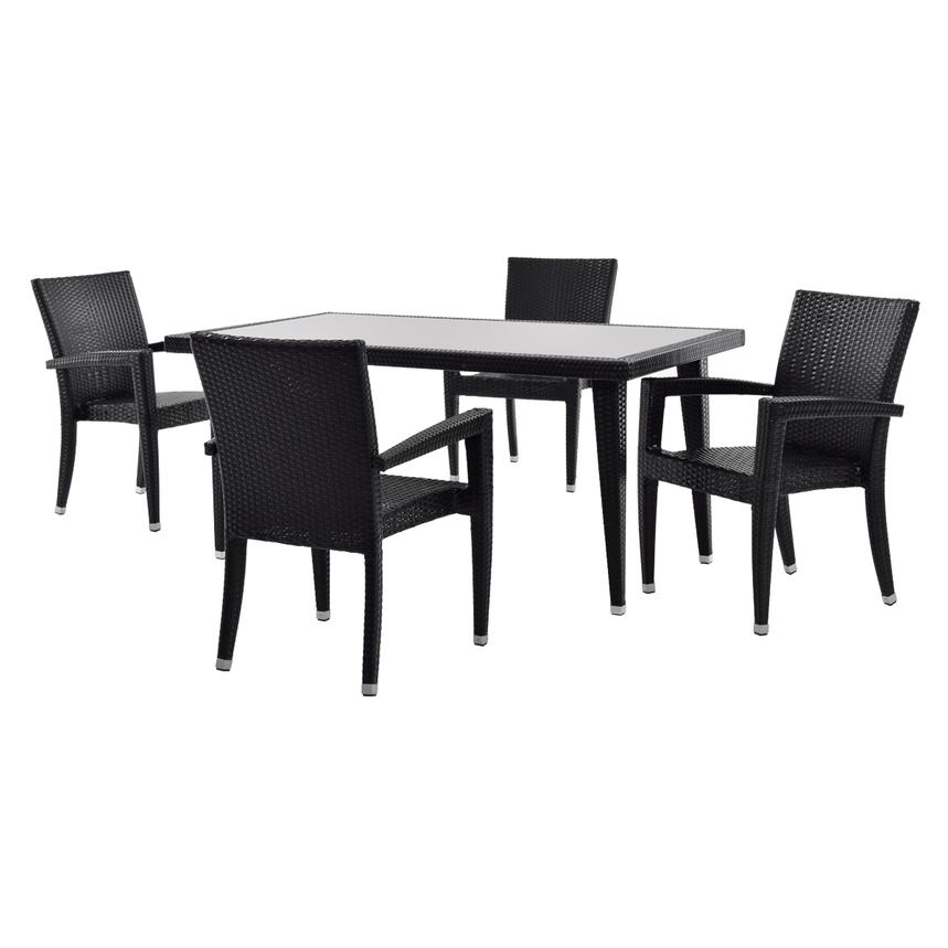 Neilina Black 5-Piece Patio Set  main image, 1 of 8 images.