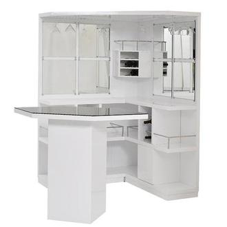 Nostran White Corner Bar w/Table