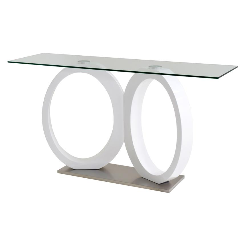Stop 36 White Console Table  main image, 1 of 4 images.
