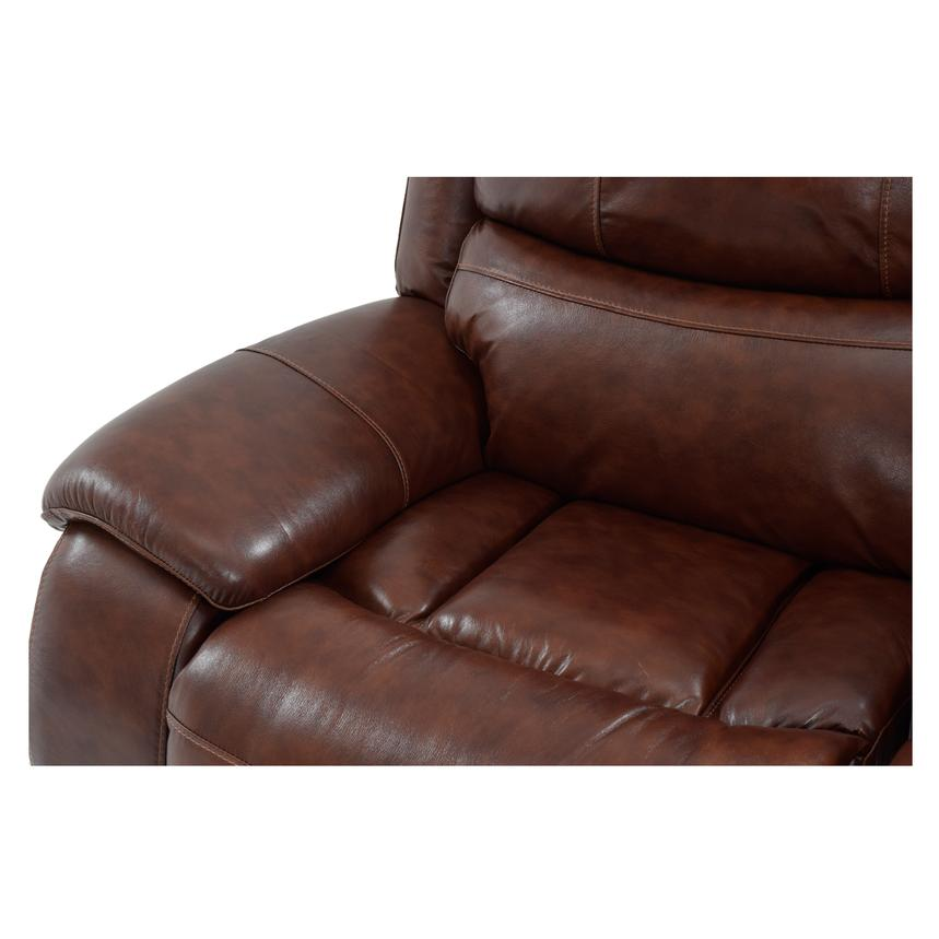 Abilene Recliner Leather Sofa w/Console  alternate image, 6 of 8 images.
