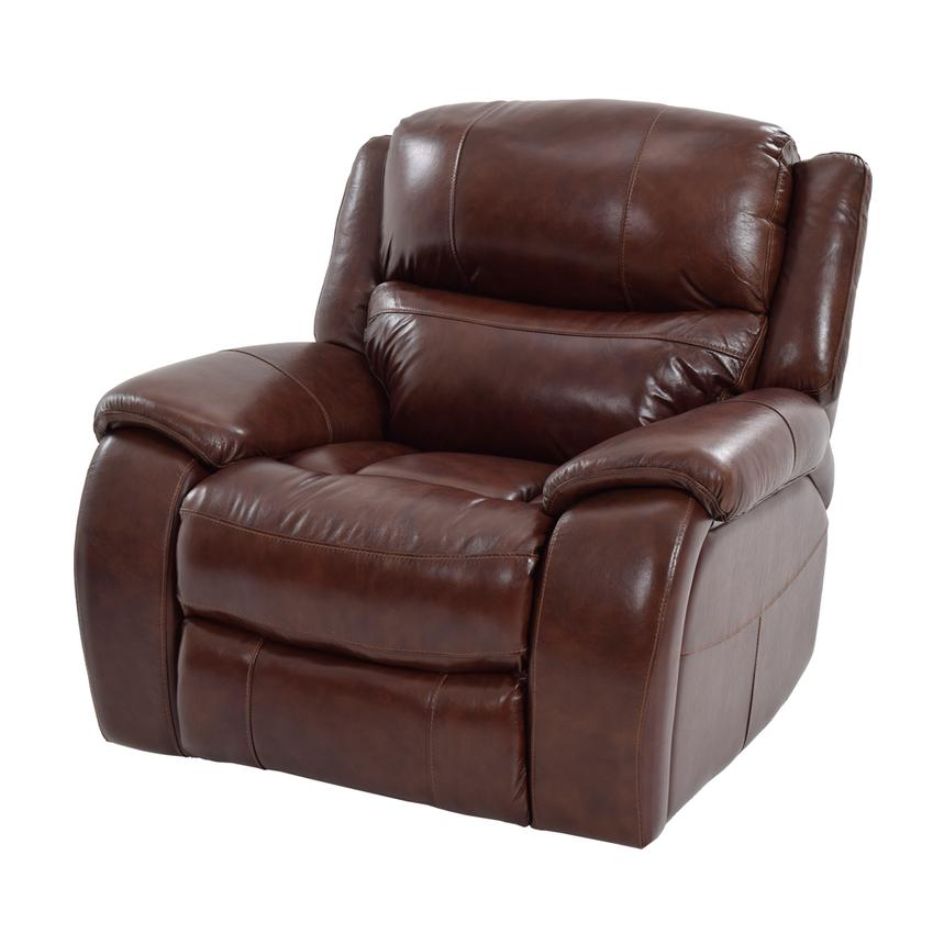 Abilene Leather Glider Recliner  main image, 1 of 9 images.