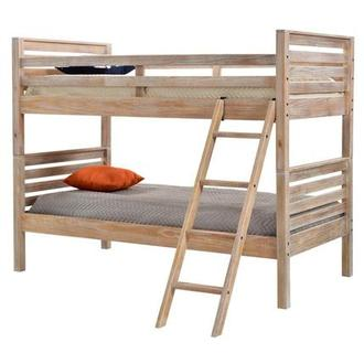 Montauk Natural Twin Over Twin Bunk Bed Made in Brazil