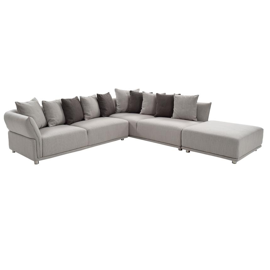 Alonzo Gray Sectional Sofa w/Ottoman  main image, 1 of 6 images.