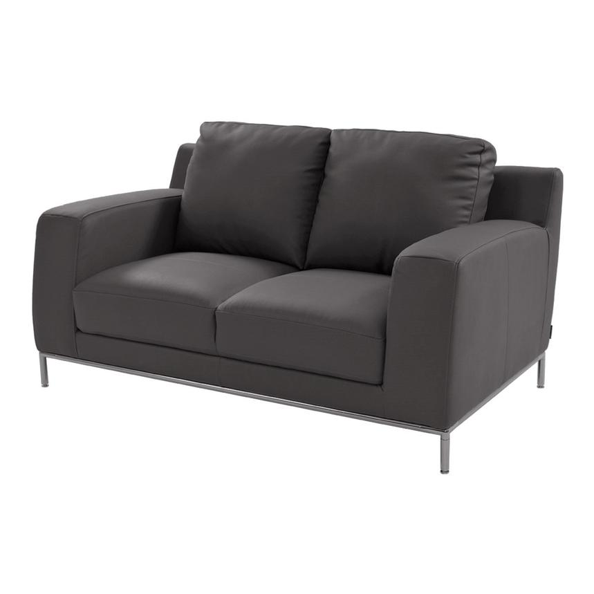 Cantrall Gray Loveseat  main image, 1 of 8 images.