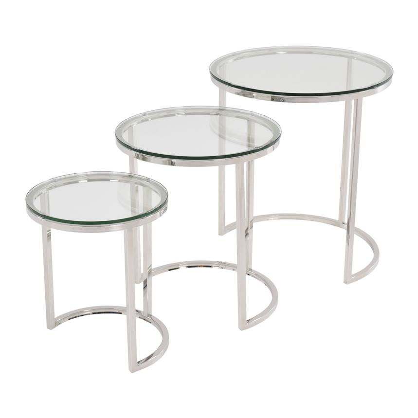 Rolo Nesting Tables Set of 3  main image, 1 of 3 images.