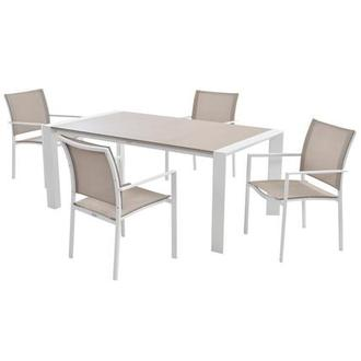 Mykonos Cream 5-Piece Patio Set