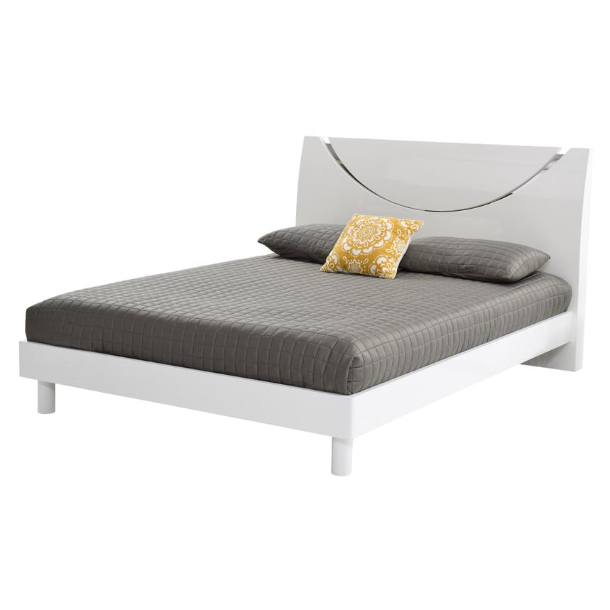 Jolie White Queen Platform Bed  main image, 1 of 6 images.