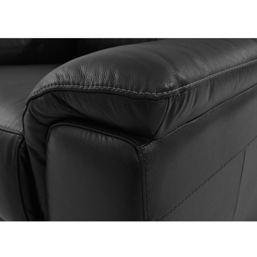 Davis Black Power Motion Leather Sofa w/Right & Left Recliners  alternate image, 6 of 9 images.