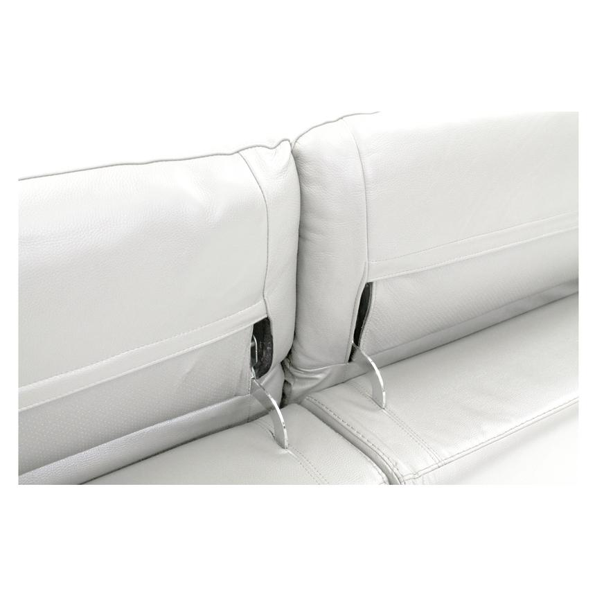 Davis White Leather Power Reclining Sectional  alternate image, 5 of 9 images.