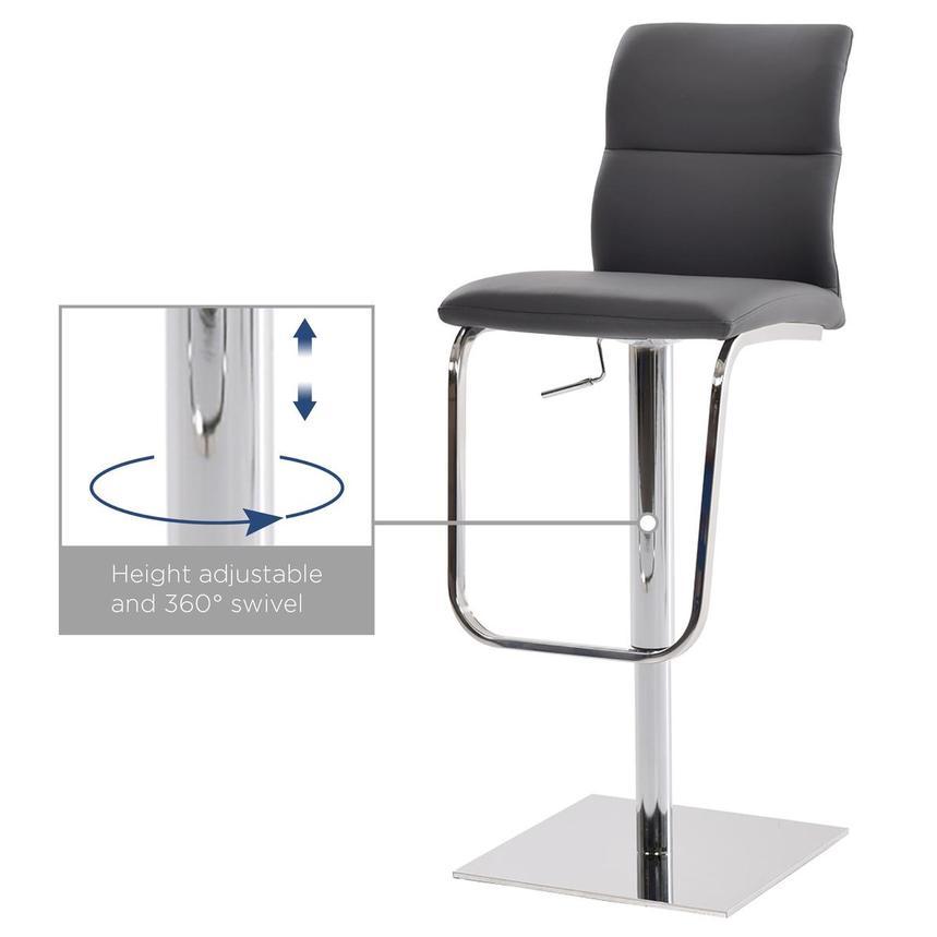 Colette Gray Adjustable Stool El Dorado Furniture