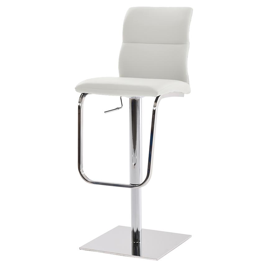 Colette White Adjustable Stool  main image, 1 of 6 images.