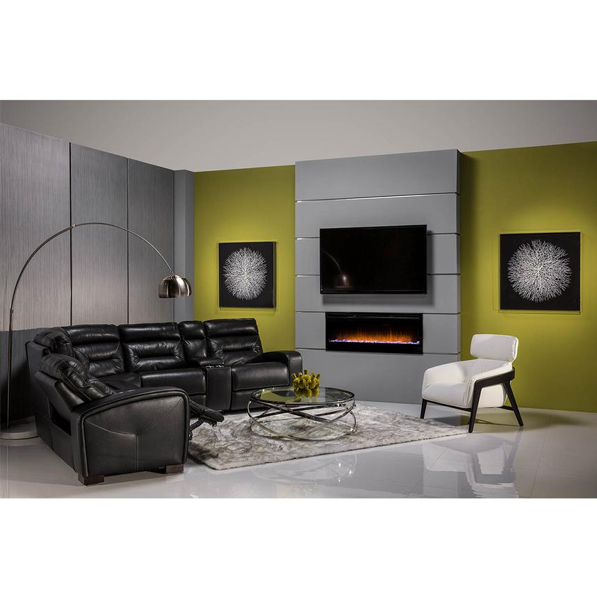 Concord Wall-Hanging Electric Fireplace w/Remote Control  alternate image, 2 of 8 images.