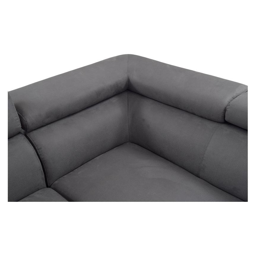 Ilias Gray Corner Sofa w/Right Chaise  alternate image, 5 of 8 images.