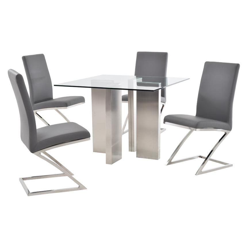 Soler/Jade Gray 5-Piece Casual Dining Set  main image, 1 of 10 images.