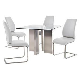 Soler/Maday White 5-Piece Casual Dining Set