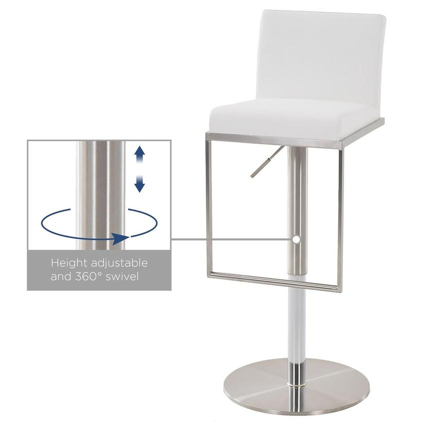 Brisa White Adjustable Stool  alternate image, 5 of 5 images.