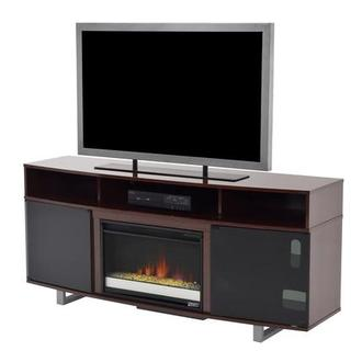 Enterprise Walnut Faux Fireplace w/Remote Control