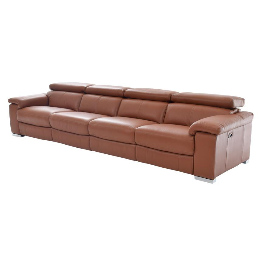 Nathan Tan Oversized Leather Sofa  main image, 1 of 6 images.