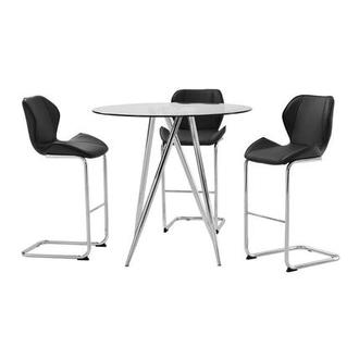 Latika Black 4-Piece High Dining Set