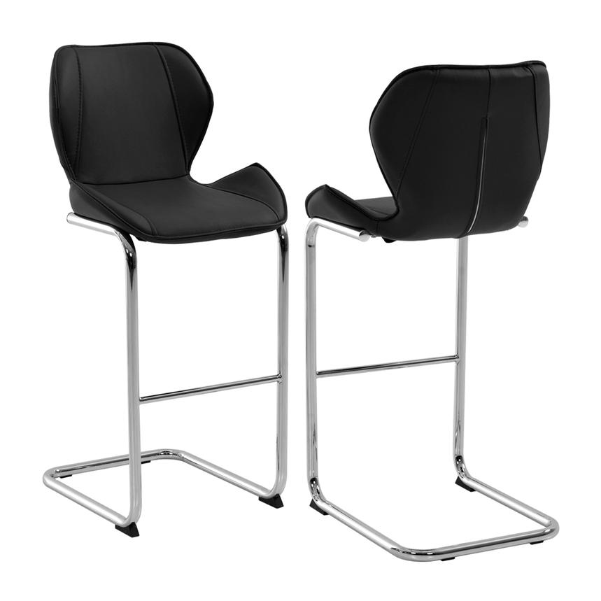 Latika Black Bar Stool  main image, 1 of 5 images.
