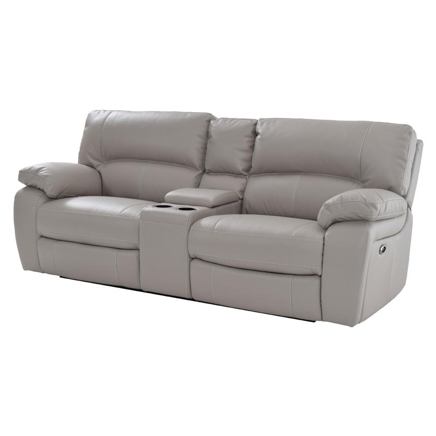 Camillo Gray Power Motion Sofa w/Console  main image, 1 of 7 images.