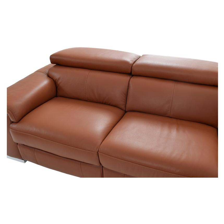 Nathan Tan Power Motion Leather Sofa w/Right & Left Recliners  alternate image, 6 of 8 images.