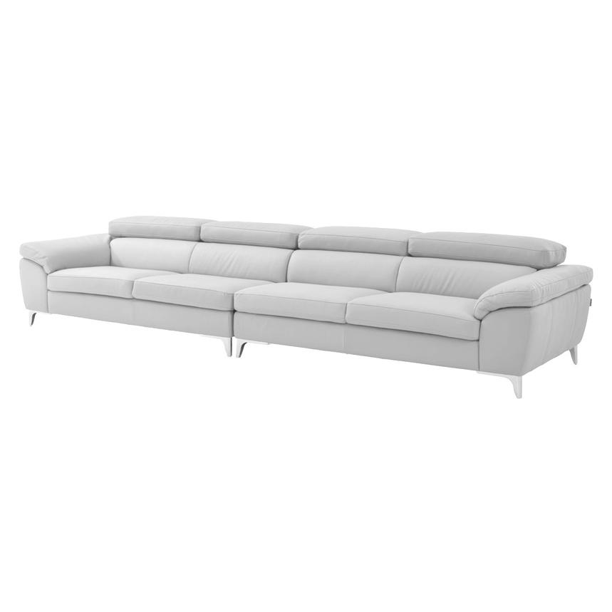 Costa White Oversized Sofa  main image, 1 of 7 images.