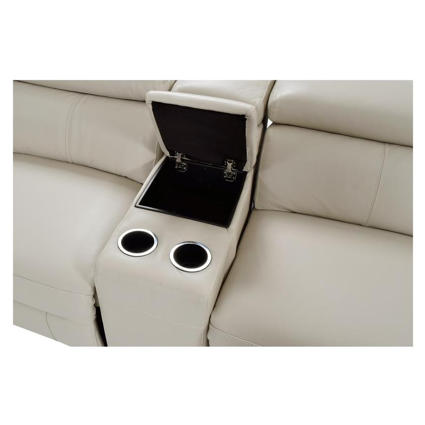James Cream Power Motion Leather Sofa w/Right & Left Recliners  alternate image, 6 of 9 images.